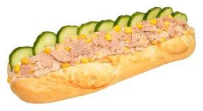 Tuna And Sweet Corn Baguette Sandwich Royalty Free Stock Photo
