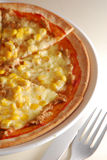 Tuna & Sweet corn Pizza Stock Image