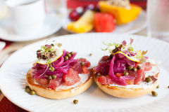 Tuna tartar dish Royalty Free Stock Photo
