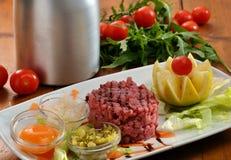 Tuna tartar dish Stock Image
