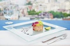 Tuna tartar with Tobiko Stock Photo