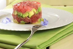 Tuna tartare composition Royalty Free Stock Photography