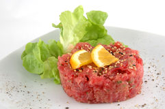 Tuna tartare isolated in white Royalty Free Stock Photo