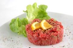 Tuna tartare isolated in white Royalty Free Stock Photo