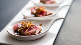 Tuna Tataki Appetizers Royalty Free Stock Photos