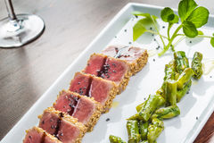 Tuna tataki Royalty Free Stock Images