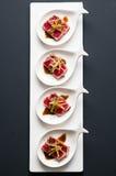 Tuna Tataki Sushi Top Centered View Royalty Free Stock Photography