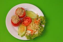 Tuna in tomatoe salad Stock Images