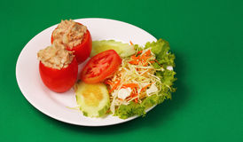 Tuna in tomatoe salad Royalty Free Stock Images