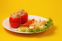 Tuna in tomatoe salad Stock Image