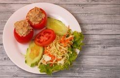 Tuna in tomatoe salad Royalty Free Stock Photo