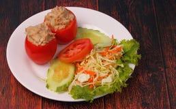 Tuna in tomatoe salad Stock Photo