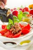 Tuna and tomatoes Stock Photos