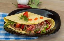 Tuna tortilla royalty free stock photos