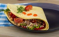 Tuna tortilla stock photo