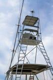 Tuna Tower av sportfiskebåten Arkivbild