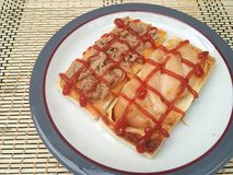 Tuna and turkey sandwich Stock Image