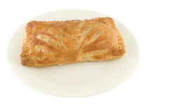 Tuna turnover pie. Picture of a tuna turnover pie in a plate Stock Photo