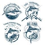 Tuna Vector Logos. Sport Fishing Club Logos. Stock Photo