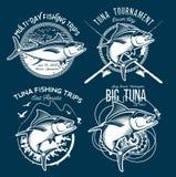 Tuna Vector Logos. Sport Fishing Club Logos. Stock Photos