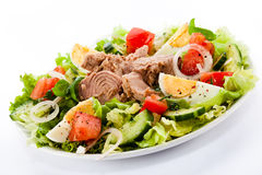 Tuna and vegetable salad Royalty Free Stock Images
