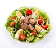 Tuna and vegetable salad Stock Photo