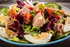 Tuna and vegetable salad Royalty Free Stock Photography