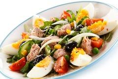 Tuna and vegetable salad Royalty Free Stock Image