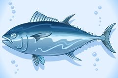 Tuna Watercolor Underwater World Royalty Free Stock Image