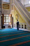 Tunahan mosque ritual of worship centered in prayer, Istanbul, T. ISTANBUL, TURKEY - SEPTEMBER 05: Muslim prayer in the Tunahan Mosque on September 5, 2015 in royalty free stock image