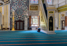 Tunahan mosque ritual of worship centered in prayer, Istanbul, T. ISTANBUL, TURKEY - SEPTEMBER 05: Muslim prayer in the Tunahan Mosque on September 5, 2015 in stock photos
