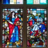 TUNBRIDGE维尔斯, KENT/UK - 1月5日:教区Ch的内部 免版税库存照片