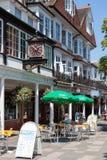 TUNBRIDGE WELLS, KENT/UK - JUNE 30 : A view of the Pantiles shop Royalty Free Stock Image