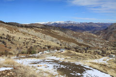 Tunceli with snow Royalty Free Stock Image