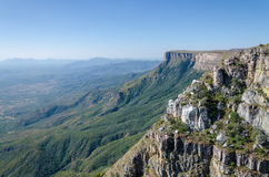 Tundavala in Angola where the plateau drops 1000m straight down into the lowlands. Tundavala near Lubango in Angola where the plateau drops 1000m straight down Stock Images