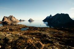 Tundra ártica - som de Scoresby - Gronelândia Fotos de Stock Royalty Free