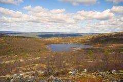 Tundra βουνών στο Lapland Στοκ Εικόνες