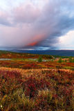 Tundra σύννεφων βράδυ στοκ εικόνα με δικαίωμα ελεύθερης χρήσης