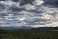 Tundra τοπίο στη βόρεια Σουηδία Στοκ Εικόνα