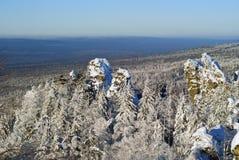 Tundra da montanha em uma névoa Fotografia de Stock