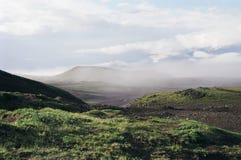 Tundra in Kamchatka. Tundra and sky in Kamchatka royalty free stock photo