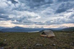 Tundra krajobraz w Północnym Szwecja obraz stock