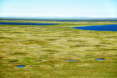 Tundra landscape in the north of Yakutia Stock Image
