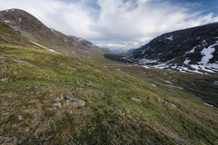 Tundra landscape in Northern Sweden Royalty Free Stock Image