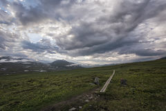 Tundra landscape in Northern Sweden Royalty Free Stock Images