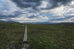 Tundra landscape in Northern Sweden Stock Images