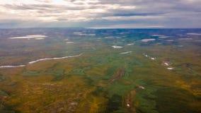 tundra Mening van de helikopter van een hoogte stock afbeelding