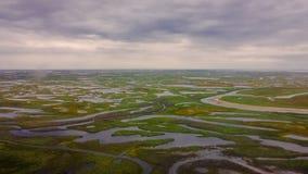 tundra Mening van de helikopter van een hoogte stock foto