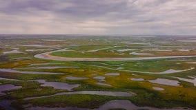 tundra Mening van de helikopter van een hoogte royalty-vrije stock fotografie