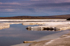 Tundra. Northern sea and tundra view Royalty Free Stock Images